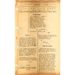 Leon Schlesinger's prsnl binder of empl newsletters 1939-1940, Empl Revnue Night prog & typescript
