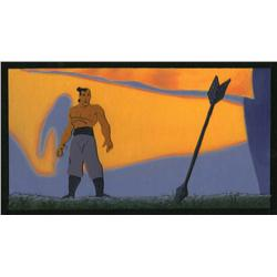 William Silvers Mulan background color key painting