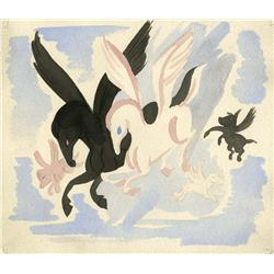 Pegasus watercolor concept artwork from Fantasia