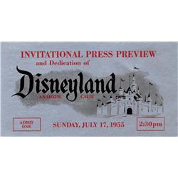 Herbert Ryman, Invitational Press Preview and Dedication of Disneyland