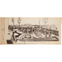 Herbert Ryman, 1964-65 New York World's Fair, Ford Motor Company Pavilion