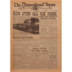 The Disneyland News, volume one, number one, from the collection of Herbert Ryman