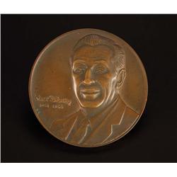 Herbert Ryman Walt Disney Congressional Medal in bronze and original design artwork