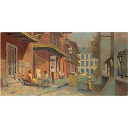 Herbert Ryman study for New Orleans Square attraction at Disneyland