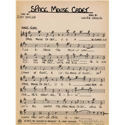 Space Mouse sheet music with Walter Lantz Productions check