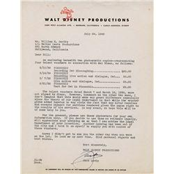 Original art of Mel Blanc w/ WB cartoon characters & newspaper on Mel Blanc vs. Walter Lantz ruling