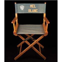 Mel Blanc's personal Warner Bros. wooden director's chair