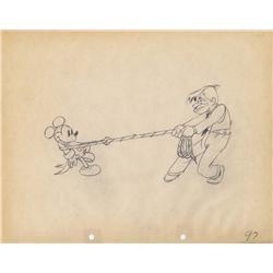Mickey's Gala Premier production drawing Walt Disney Studios 1933