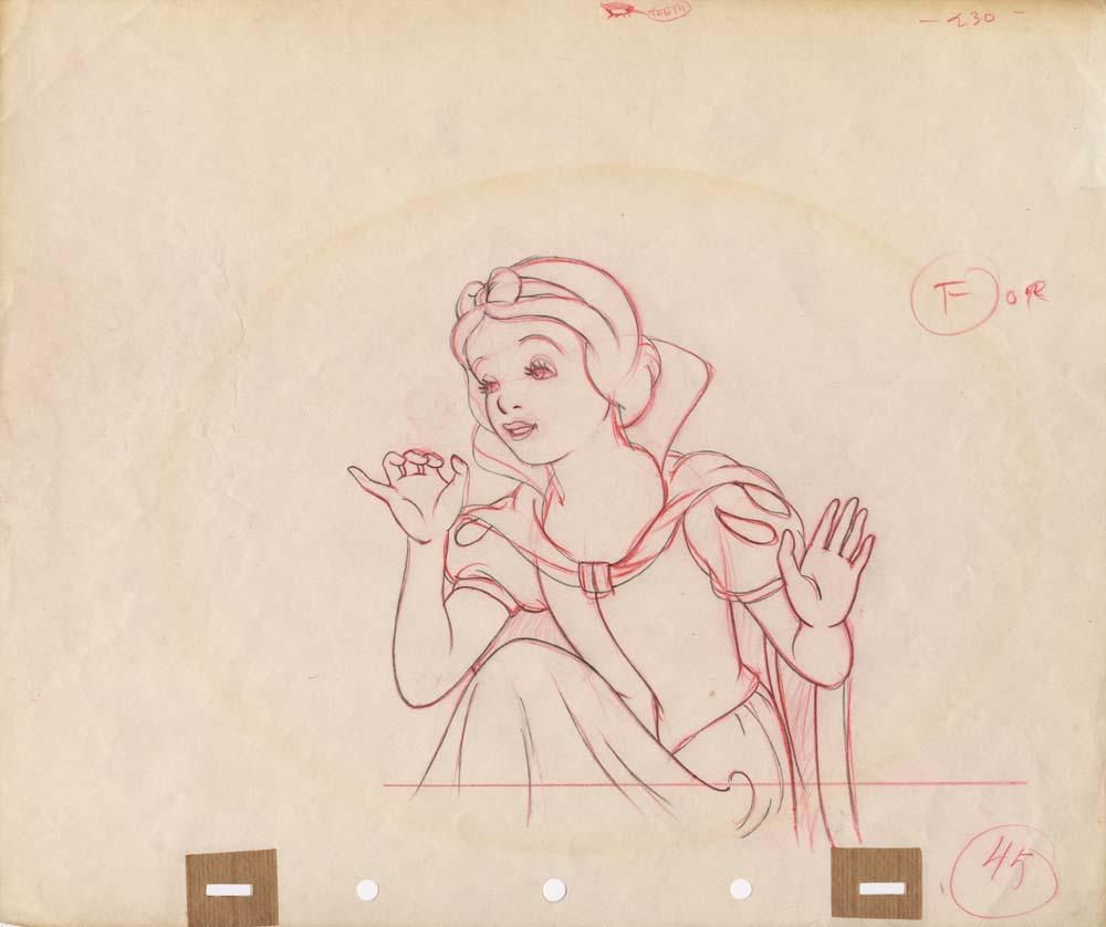 Snow white and the seven dwarfs original production drawing