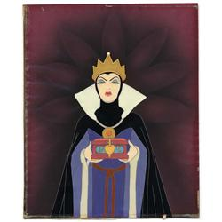 Orig production cel of the Evil Queen from Snow White & the Seven Dwarfs w/ Walt Disney signature