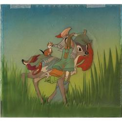 Original production cel of deer from Snow White and the Seven Dwarfs