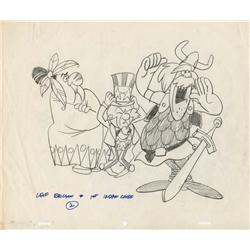 First Mr Magoo cartoon, Ragtime Bear, production cel plus pair of Uncle Sam Magoo drawings