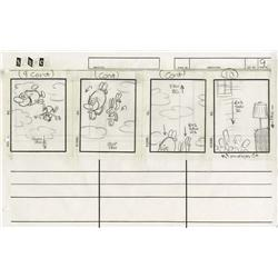 "The Ren & Stimpy Show complete storyboard for the episode, ""Stimpy's Fan Club"""