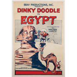 Dinky Doodle in Egypt Walter Lantz/Bray Studios 1926 animated-short one-sheet poster