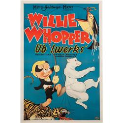 Willie Whopper 1933 one-sheet poster for Ub Iwerks animated-short