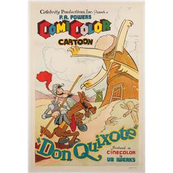 Don Quixote 1934 one-sheet poster for Ub Iwerks animated-short