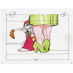 Who Framed Roger Rabbit storyboard panel by Richard Williams