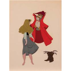 Original production cel of Sleeping Beauty with Mock Prince from Sleeping Beauty