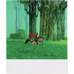 Prince Phillip & Samson orig prod cel from Sleeping Beauty signed by Frank Thomas & Ollie Johnson