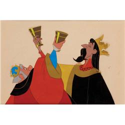 Original production cels of Kings Hubert and Stefan toasting from Sleeping Beauty