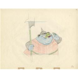 40 original Milt Kahl production drawings of Queen's Guard from Sleeping Beauty