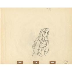 Original production drawings of Briar Rose by Marc Davis from Sleeping Beauty