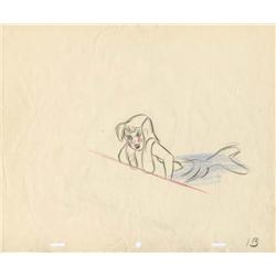 Peter Pan production drawing of mermaid by Fred Moore