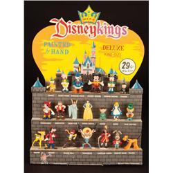 Marx Disneykings Castle store display with figures in original box