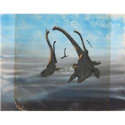 Original production cel of Plesiosaurs from Fantasia