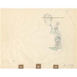 Nubian zebra girl original production drawing from Fantasia