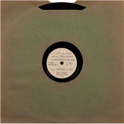 Disney Prods 78 rpm phono record of Beethoven Symp No. 6, the Pastoral, used during mkng of Fantasia