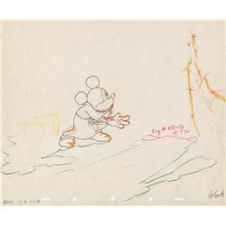 """""""The Sorcerer's Apprentice"""" original production drawing of Mickey from Fantasia"""