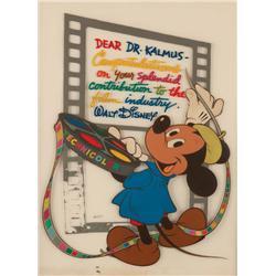 Walt Disney Mickey Mouse orig cust cel presented to co-founder & pres of Technicolor, Herbert Kalmus