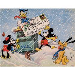 Walt Disney Studio Christmas Card for 1936