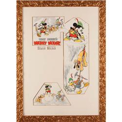 Alpine Climbers original artwork for Good Housekeeping by Tom Wood