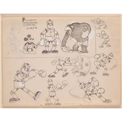 Original model sheet from Mickey's Mechanical Marvel