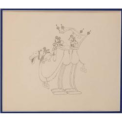 Mickey in Arabia production drawing of Mickey and Minnie on camel
