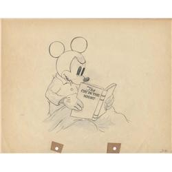 Mickey production drawing from Mickey's Nightmare Disney Studios 1932