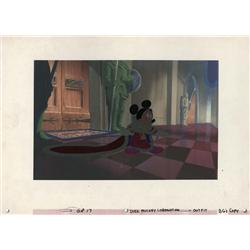 Mickey Mouse The Prince And the Pauper model cel and background