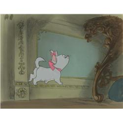 Original Walt Disney production cel and background from The Aristocats