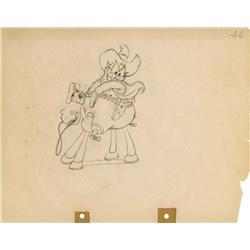 Two-Gun Mickey original production drawing