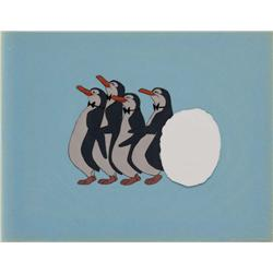 Original production cel of Penguins from Mary Poppins