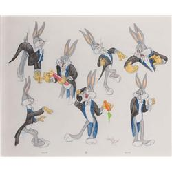 Bugs Bunny in tails original Virgil Ross drawing