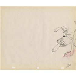 Pair of original production drawings from Tex Avery's Screwball Squirrel