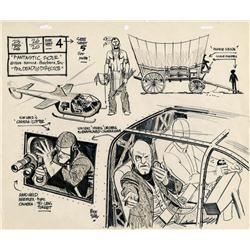 Alex Toth original model sheet from Fantastic Four