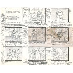 Complete hand-drawn storyboards for Fantastic Four