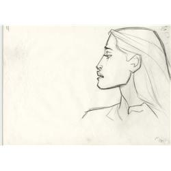Pocahontas pair of production drawings by Glen Keane