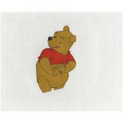 Original production cel of Pooh from Winnie the Pooh and the Blustery Day