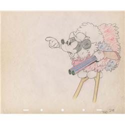 Mickey production drawing from Moose Hunters