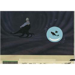 The Little Mermaid production cel and production background